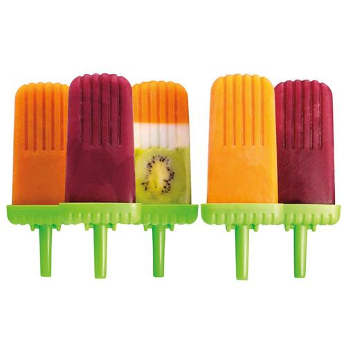 Groovy Pop Molds - Green, Set of 6