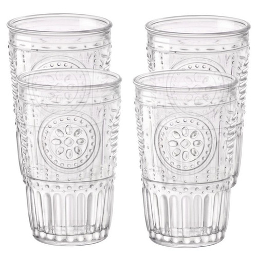 Romantic Glass Tumblers, Set o 4