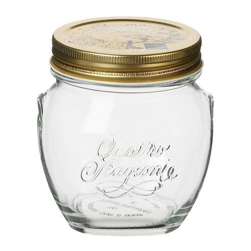 Quattro Stagioni Amphora Canning Jar - Clear Glass, 500ml
