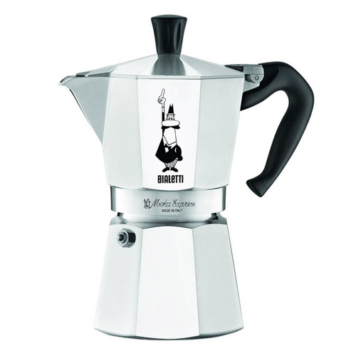 Moka Express Stovetop Coffee Maker, 6 Cup