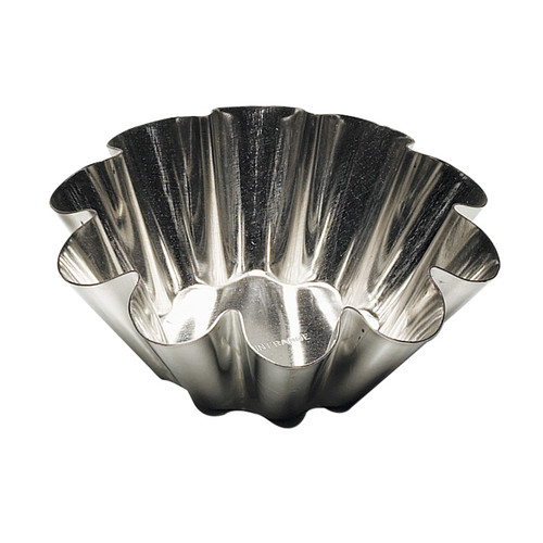 Fluted Brioche Mould - Flat Bottom, 7cm