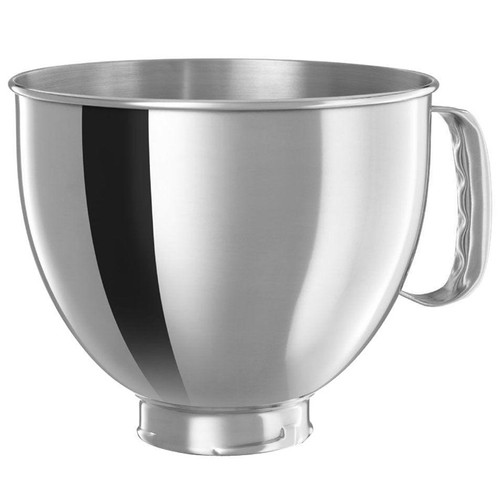 Tilt-Head Stand Mixer Bowl with Handle - Stainless, 5Qt
