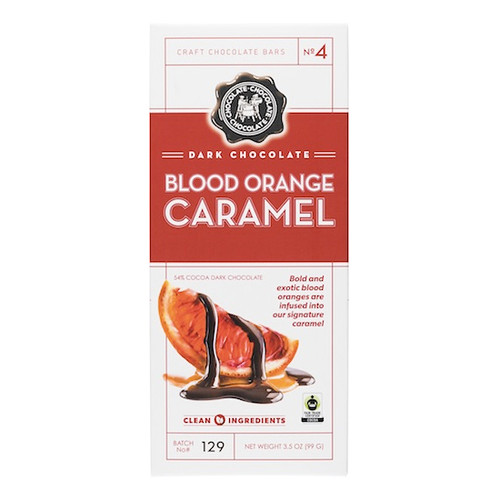 Dark Chocolate Bar - Blood Orange Caramel, 99g