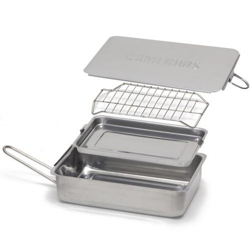 Mini Stovetop Smoker - Stainless Steel