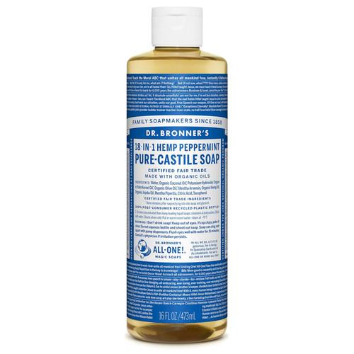 Pure Castile Liquid Soap - Peppermint, 16oz