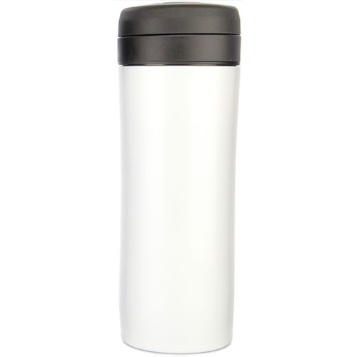 Travel Press with Coffee Filter - 12 oz, White