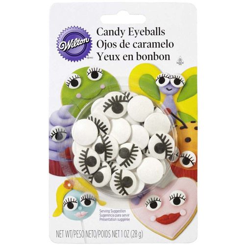 Candy Eyeballs with Lashes - Large, 28g