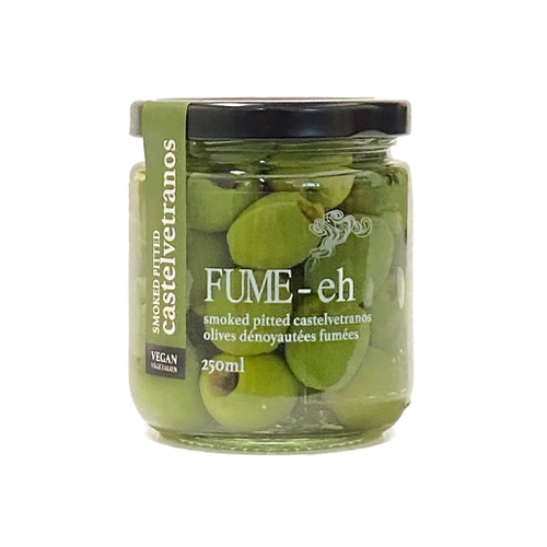 Smoked Pitted Castelvetrano Olives, 250ml