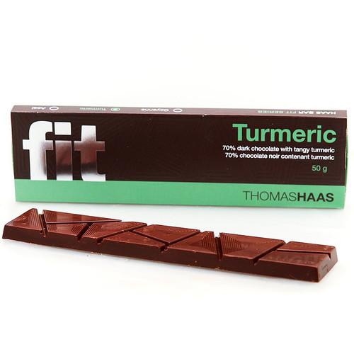 Dark Chocolate Bar 70% - Fir Turmeric, 50g