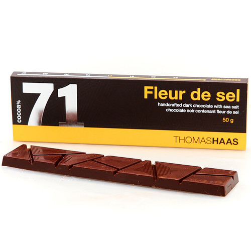 Dark Chocolate Bar 71% - Fleur de Sel, 50g
