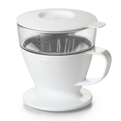 Pour-Over Coffee Dripper with Water Tank - White