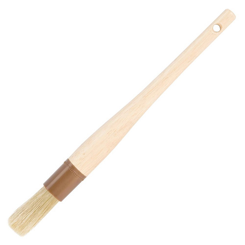 Natural Boar Bristle Pastry Brush - Round, 1-in