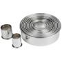 Round Plain Cutter Set - Stainless Steel, 12-Piece