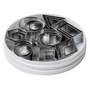 Geometric Shape Cutter Set - Stainless Steel, 24-Piece