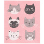 Swedish Dishcloth - Cats Meow, 6.5 x 8-in