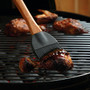 Silicone BBQ Basting Brush - Rosewood Handle, 15.25-in