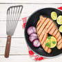 Fish Spatula - Slotted Angled, 11.25-in