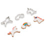 Unicorn Stainless Steel Cookie Cutters, Set of 3