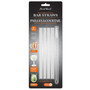 Reusable 6-in Glass Cocktail Straws - Set of 4