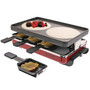 Classic Raclette Party Grill - Cast Iron Plate, 8 Person