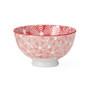 Kiri Porcelain Small Bowl - Red Flower, 4.5-in