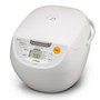 Rice Cooker 10 cup with Tacook, White
