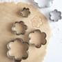 Flower Cookie Cutter Set - Stainless Steel, 6-Piece