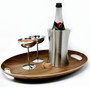Oval Serving Tray - Wood Finish