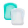Reusable Silicone Pocket 2-pack Bundle, Clear+Aqua