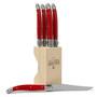 Laguiole Debutant  - Red Steak Knife Set, Set of 6