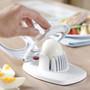 Egg Slicer and Wedger + Built in Shell Piercer, White