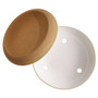 Storage Bowl Large With Cork, White
