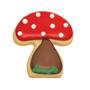 Mushroom Cookie Cutter, 4.5cm
