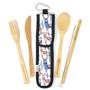 Bamboo Utensil Kit - Pastel Alpaca, Set of 5