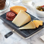 Cheese Sliver - Black Marble,  7.75 x 5-in