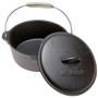Dutch Oven Flat Bottom - Pre-seasoned Cast Iron, 4.5Qt
