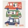 Swedish Dishcloth - Food Trucks, 6.5 x 8-in