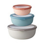 Cirqula Shallow Multi-Bowl - Assorted Colours, Set of 3