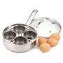 Egg Poacher with Glass Lid - Stainless Steel, 4-Egg