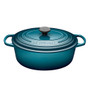 Teal Oval French Oven - Cast Iron, 4.7L