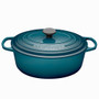 Teal Oval French Oven - Cast Iron, 6.3L