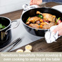 Universal Pan with Lid Fusiontec Ceramic  - Onyx Black, 4.5Qt