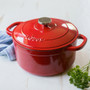 Dutch Oven - Red Enameled Cast Iron, 5.5Qt