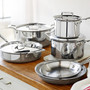 Cookware Set - D5 Polished Stainless, 10 Piece