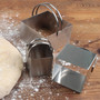 Square Cookie Cutters - Plain Edge, Set of 4