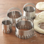 Round Cookie Cutters - Rippled Edge, Set of 4