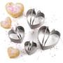 Heart Shape Cookie Cutters - Plain Edge, Set of 4