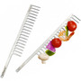 Grill Comb Skewers - Stainless Steel, Set of 2