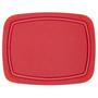 Red Poly Cutting Board - Non-Slip Corners, 11.5x9-in