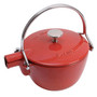 Teapot Cast Iron - Cherry Red, 1.1L